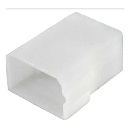Boîtier de connecteur 4 pôles fiche plate