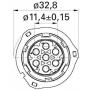 Boîtier de connecteur AMP TYCO RK