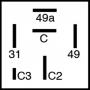 Centrale clignotante 12V 6 fiches