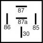 Relais inverseur 24V 20/30A + patte