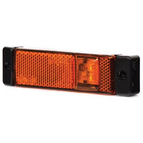 Feu d'encombrement orange LED Avec câble de 500 mm + click in