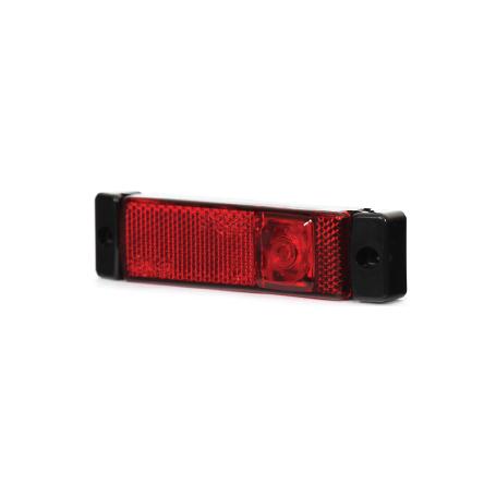Feu encombrement ROUGE LED 12/24V avec cable 500 mm + click in