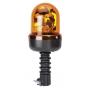 Gyrophare orange bi-voltage fixation hampe flexible