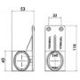 Feu de position LED TRICOLORE DROIT 12/24V 1700mm - câble fils nus