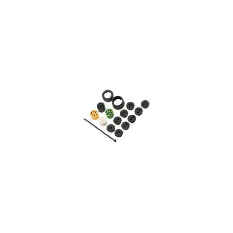 Kit de connecteurs 7 pôles ASS2 (jeu de 2 GAUCHE jaune/DROIT vert)