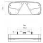 Feu 7 fonctions Ecopoint droit avec triangle LED