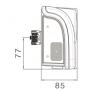Feu 7 fonctions Europoint II DROIT avec position LED 7P AMP DIN + 4x2 P Superseal