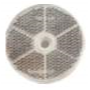 Catadioptre rond blanc 60mm avec trou de fixation 6mm et adhésif