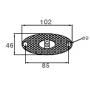 Feu de position latéral Flatpoint 2 à LED à plaquer et câble Lg 2M P&R