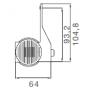 Feu de gabarit Superpoint 3 gauche câblé nu 4m