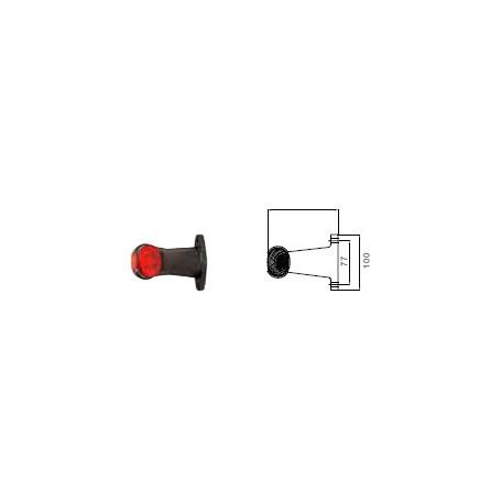 Feu sur antenne courte Superpoint 2 avec câble 0.5m P&R