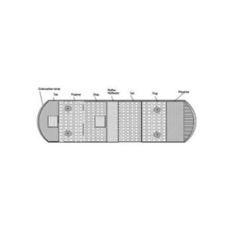 Cabochon feu Volvo / Scania
