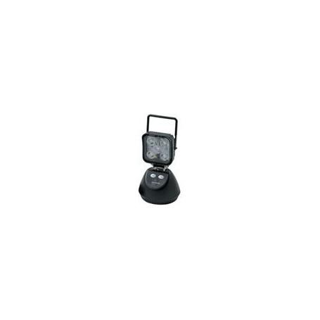 Phare de travail LED 1000 carré faisceau large, portable, 3 modes, rechargeable sur batterie