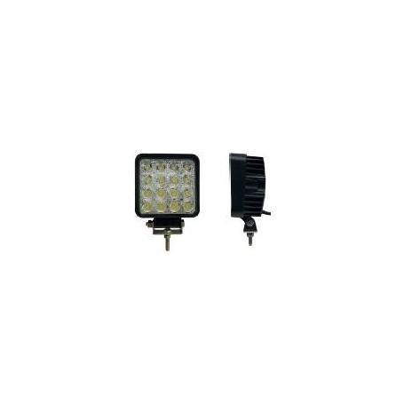 Phare de travail LED 3500 carré faisceau large, câble 1,50m nu, IP67