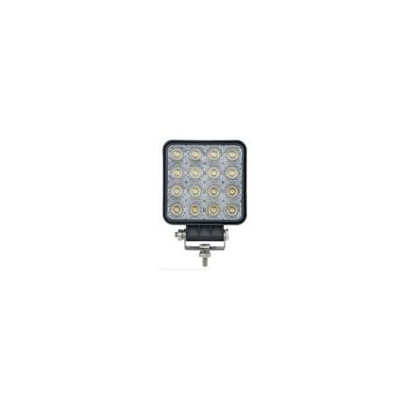 Phare de travail LED 1800 carré faisceau large, câble 1,50m nu, IP67, boîtier plastique extra plat
