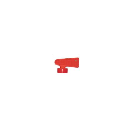 Clé de rechange plastique rouge pour coupe batterie CB115001