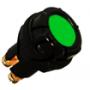 Voyant de contrôle 6, 12 et 24 Volts pour panneau épaisseur maxi 7 mm vert
