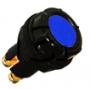 Voyant de contrôle 6, 12 et 24 Volts pour panneau épaisseur maxi 7 mm bleu
