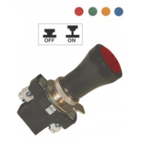Interrupteur à tirette à lentille 6, 12 et 24 Volts