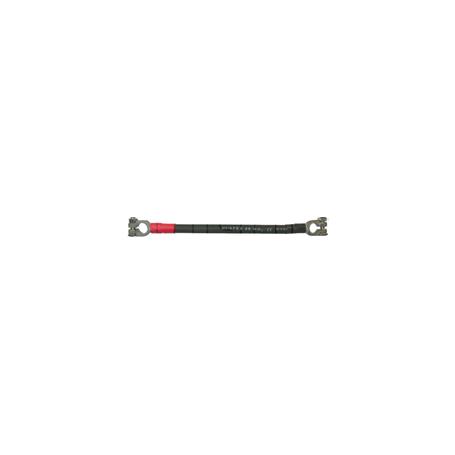 Câble monté avec un collier de batterie à fût positif (+) et 1 collier de batterie à fût négatif (-)