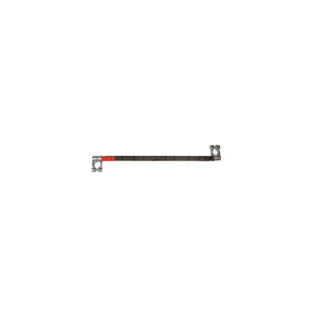Câble monté inversé avec 1 collier de batterie positif (+) et 1 collier de batterie négatif (-)