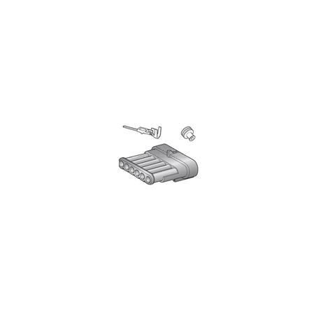 Kit connecteur 6 voies mâle