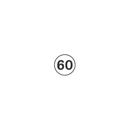 Disques limitation de vitesse 60