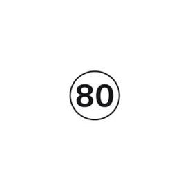 Disques limitation de vitesse PL 80