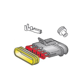 Kit connecteur 5 voies femelle