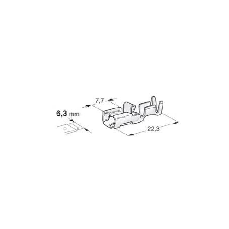 Cosse femelle renforcée avec verrouillage - Laiton étamé