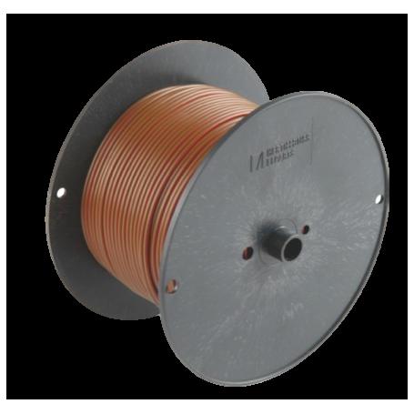 FIL 2mm2 ROUGE (bobine 25m)
