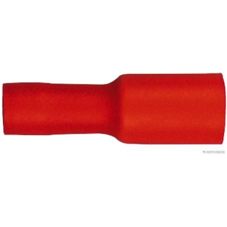 Fiche toute isolée ROUGE (x100) 0,5 mm²-1,5 mm²