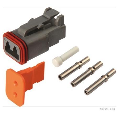 Jeu de boitier connecteur TE (x1) 2 pôles prise ronde