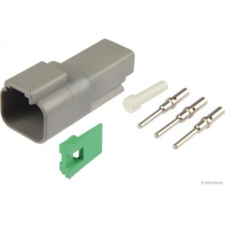 Jeu de boitier connecteur TE (x1) 2 pôles fiche ronde