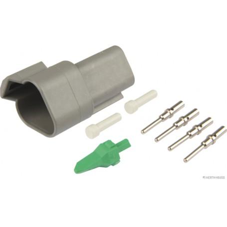 Boitier connecteur TE fiche (x1) ronde 3 pôles