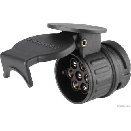 Adaptateur 13/7 pôles 12V Long. 52mm (13/7 picots)