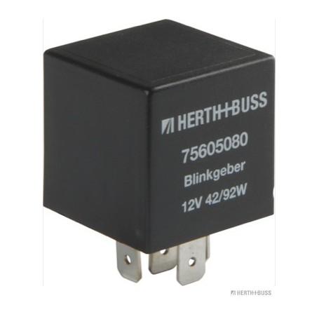 Centrale clignotante 12V 4 fiches 4x6,3 mm Larg.30 mm haut.40mm
