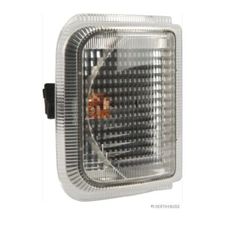 Feu clignotant G/D BLANC avec porte-lampe Montage en saillie lampe PY