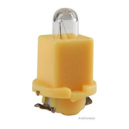 Ampoule culot plastique JAUNE (x10) 24 V 1,2 W EBSR4