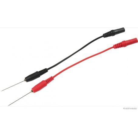 Pointe de touche Noire + Rouge Long.câble 100mm