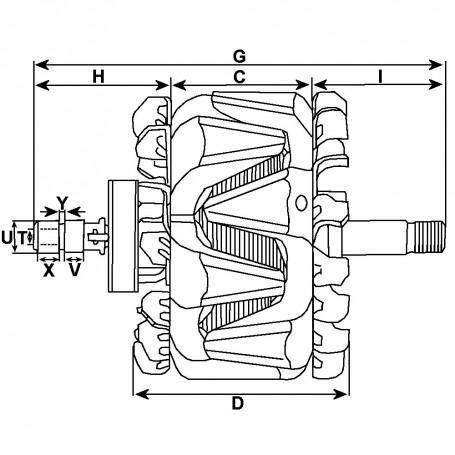 Rotor 12V 90A