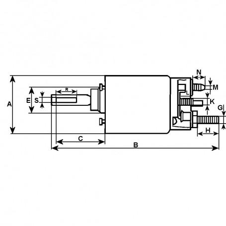 Relais auxilliaire 24V 2 bornes L.74.70MM