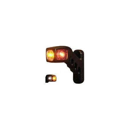 Feu d'encombrement LED DROIT cristal/orange rouge 238R-DV