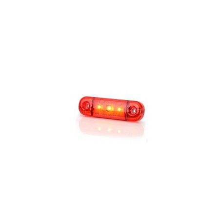 Feu encombrement ROUGE LED SLIMLINE 12/24V 201-DV-OR
