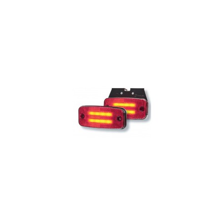 Feu d'encombrement ROUGE 326-DV-RO + support + conversion à plaquer