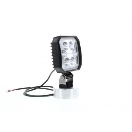 Phare de travail CARRE LED CARB0NLUX 110x110mm + câble
