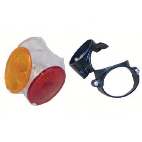Cabochon Cristal/Rouge/Ambre pour feu D12429