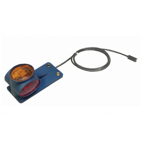 Feu de position LED Cristal/Rouge/Ambre Pré-câblé 1500mm