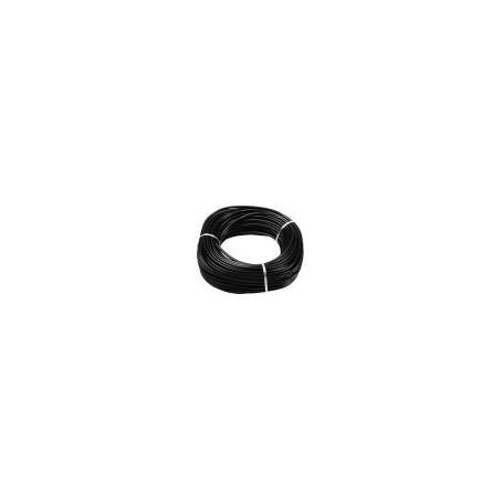 Gaine souplisseau noire en PVC Aspect satiné (x25m) diam.inter.6mm Ep