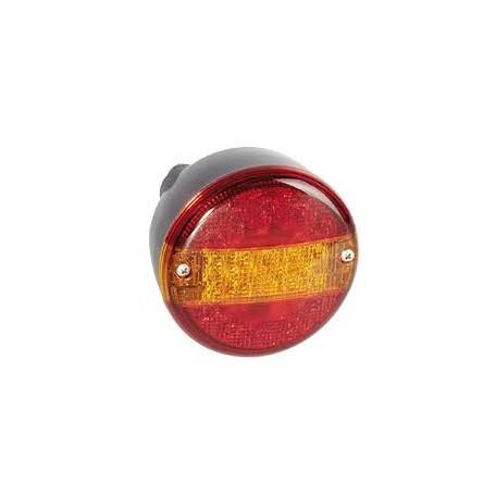 Feu rond 3 fonctions à LED avec presse-étoupe 11 12/24V